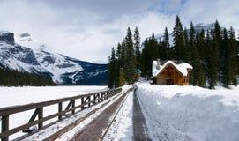 Camino en nieve Fotos de archivo libres de regalías