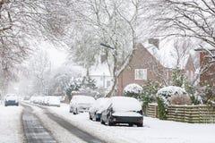 Camino en nieve Imagen de archivo libre de regalías
