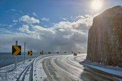 Camino en Noruega foto de archivo libre de regalías