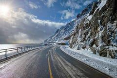 Camino en Noruega imágenes de archivo libres de regalías
