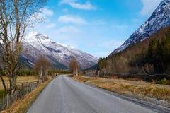 Camino en Noruega Fotografía de archivo libre de regalías