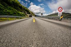Camino en Noruega Imagen de archivo