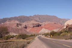 Camino en Quebrada de las Conchas Foto de archivo