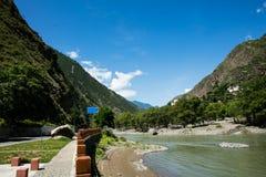 Camino en Sichuan, China Fotografía de archivo libre de regalías