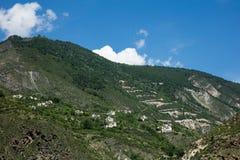 Camino en Sichuan, China Foto de archivo