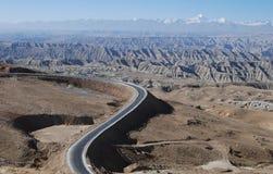 Camino en Tíbet Fotografía de archivo libre de regalías