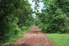 Camino en Tailandia septentrional Foto de archivo libre de regalías
