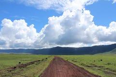 Camino en Tanzania Imagenes de archivo
