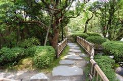 Camino en un jardín Foto de archivo