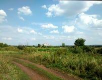 Camino en un prado Imagen de archivo