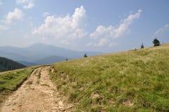 Camino en una ladera. Imagen de archivo libre de regalías