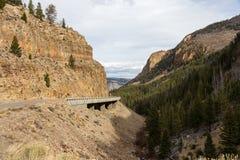 Camino en Yellowstone Fotografía de archivo libre de regalías