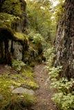 Camino entre las caras de la roca, superior de lago Fotografía de archivo libre de regalías