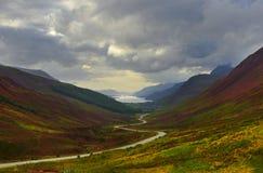 Camino escénico de Escocia foto de archivo libre de regalías