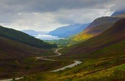 Camino escénico de Escocia fotos de archivo libres de regalías