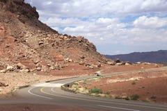 Camino escénico en Arizona Fotos de archivo libres de regalías