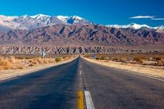 Camino escénico en la Argentina septentrional Foto de archivo libre de regalías