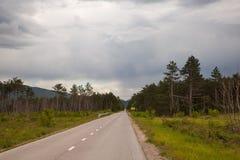 Camino a Eslovenia Imagenes de archivo
