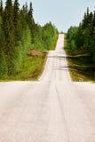 Camino finlandés en primavera Imágenes de archivo libres de regalías