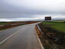 Camino a Fuentemizarra Foto de archivo libre de regalías