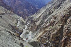 Camino a gran altitud Fotos de archivo libres de regalías