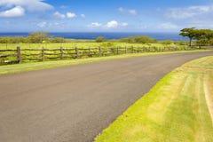 Camino grande de Hawaii de la isla al océano imágenes de archivo libres de regalías