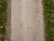 Camino gris asphalt_2 agrietado Fotografía de archivo libre de regalías