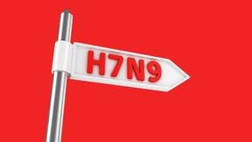 Camino a H7N9 Fotos de archivo