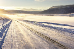 Camino helado Foto de archivo