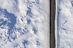 Camino helado aéreo Imágenes de archivo libres de regalías