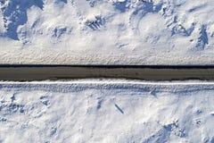 Camino helado aéreo Fotografía de archivo libre de regalías