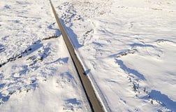 Camino helado aéreo Imagen de archivo libre de regalías