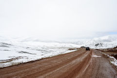 Camino helado de la montaña Foto de archivo libre de regalías