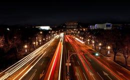 Camino iluminado Imagen de archivo libre de regalías