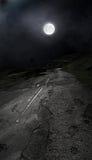 Camino iluminado por la luna peligroso Imágenes de archivo libres de regalías