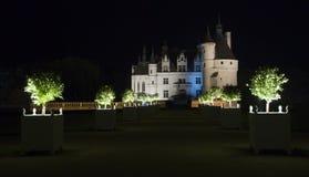 Camino iluminado a un castillo Imagen de archivo libre de regalías