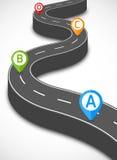 Camino infographic Fotografía de archivo