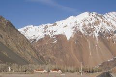 Camino internacional la Argentina - Chile Foto de archivo