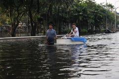 Camino inundado Foto de archivo libre de regalías