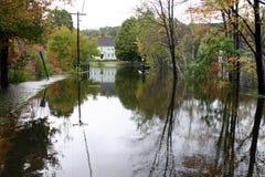 Camino inundado #4 del país Imagen de archivo