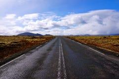 Camino Islandia Fotos de archivo libres de regalías