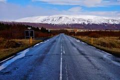 Camino Islandia Imagenes de archivo