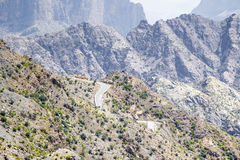 Camino Jebel Akhdar Omán Imágenes de archivo libres de regalías