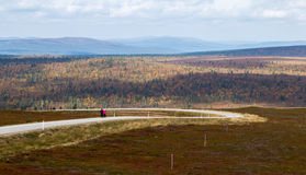 Camino a Kaunispää Foto de archivo
