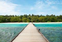 Camino a la isla real Imagenes de archivo