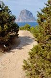Camino a la montaña. Foto de archivo