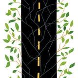 Camino a la naturaleza stock de ilustración
