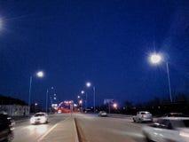 Camino a la noche Imagen de archivo
