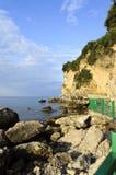 Camino a la playa Mogren en Montenegro Imagen de archivo