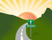 Camino a la recuperación Imagenes de archivo